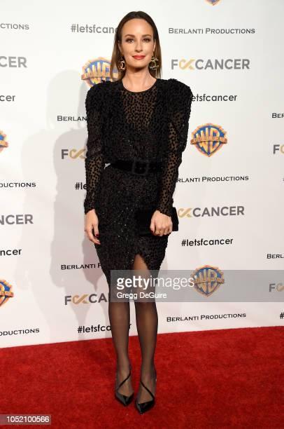Catt Sadler arrives at FCancer's 1st Annual Barbara Berlanti Heroes Gala at Warner Bros Studios on October 13 2018 in Burbank California