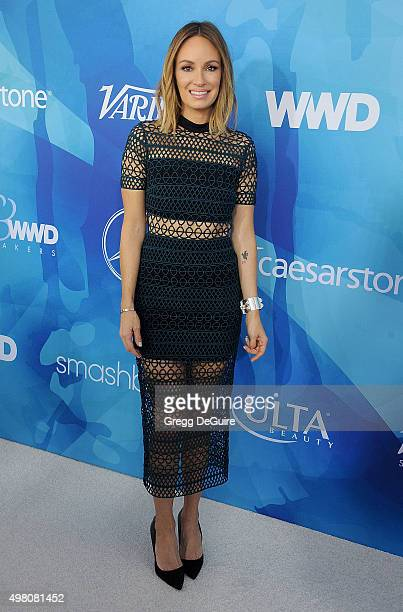 Catt Sadler arrives at the WWD And Variety Inaugural Stylemakers' Event at Smashbox Studios on November 19 2015 in Culver City California