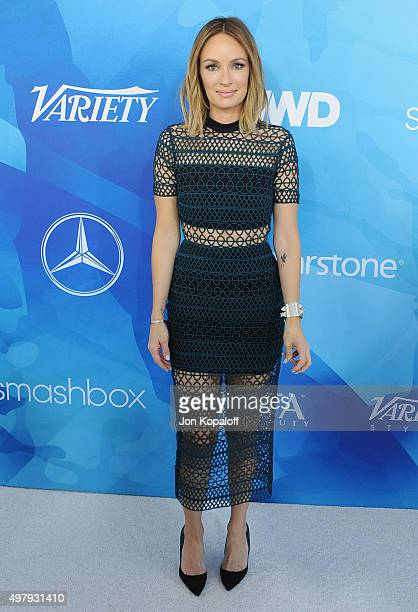 Catt Sadler arrives at WWD And Variety Inaugural Stylemakers' Event at Smashbox Studios on November 19 2015 in Culver City California