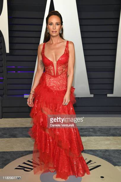 Catt Sadler attends 2019 Vanity Fair Oscar Party Hosted By Radhika Jones at Wallis Annenberg Center for the Performing Arts on February 24 2019 in...