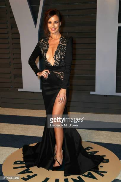 Catt Sadler attends the 2018 Vanity Fair Oscar Party hosted by Radhika Jones at Wallis Annenberg Center for the Performing Arts on March 4 2018 in...