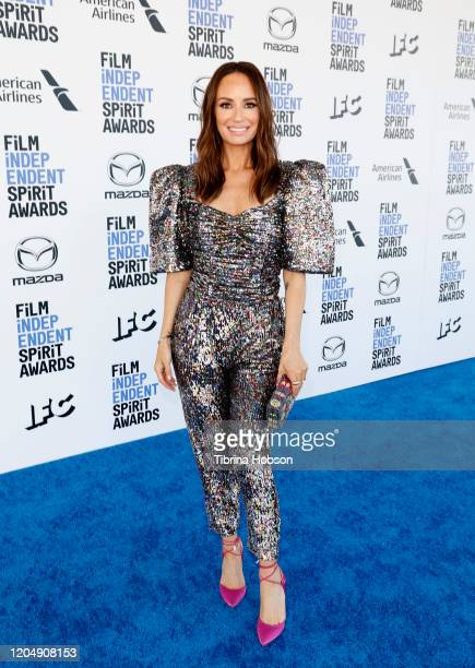 Catt Sadler attends The 2020 Film Independent Spirit Awards with American Airlines at The 2020 Film Independent Spirit Awards on February 08 2020 in...