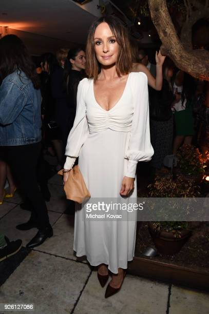 Catt Sadler celebrates with Belvedere Vodka at Vanity Fair and Lancome Paris Toast Women in Hollywood hosted by Radhika Jones and Ava DuVernay on...