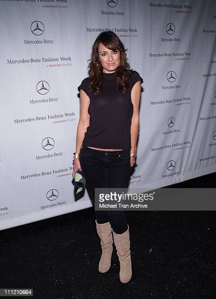 Catt Sadler during MercedesBenz Spring 2007 Los Angeles Fashion Week at Smashbox Studios Arrivals at Smashbox Studios in Culver City California...