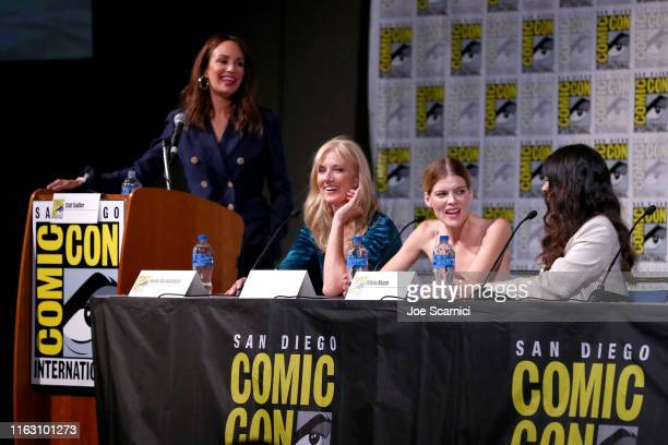 "Catt Sadler Joely Richardson Emma Greenwell and Olivia Munn attend STARZ ""The Rook"" at San Diego ComicCon 2019 at San Diego Convention Center on July..."