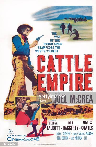 Joel McCrea inset lr Gloria Talbott Joel McCrea on poster art 1958