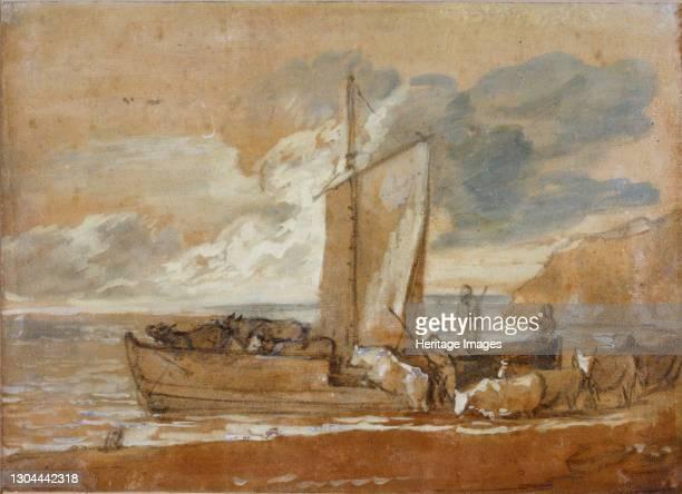 Cattle Ferry, 1784-1788. Artist Thomas Gainsborough.