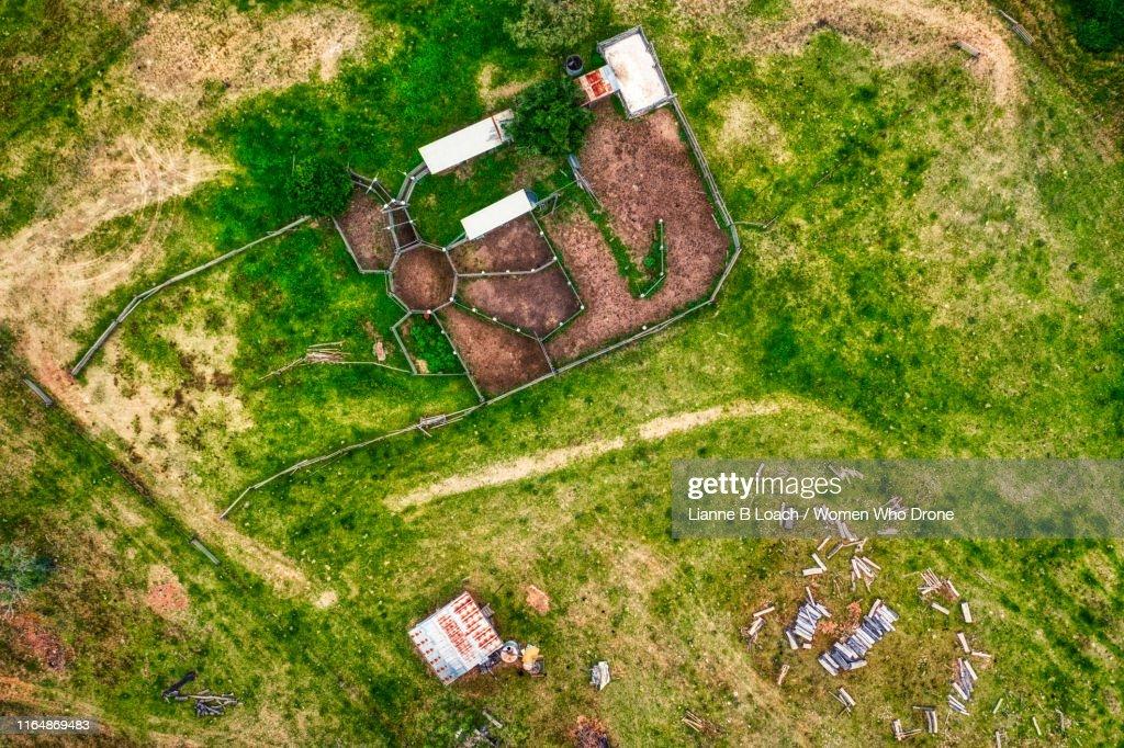 Cattle Yard : Foto stock