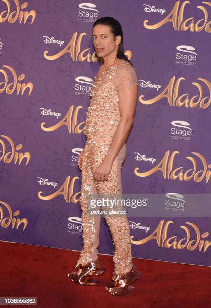 Catwalk coach Jorge Gonzalez arrives to the Theater Neue Flora for the premiere of the Disney musical 'Aladdin' in Hamburg Germany 06 December 2015...