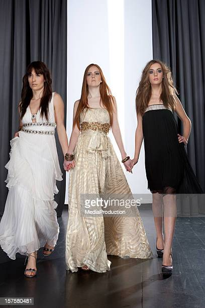 catwalk fashion show - evening wear stock pictures, royalty-free photos & images