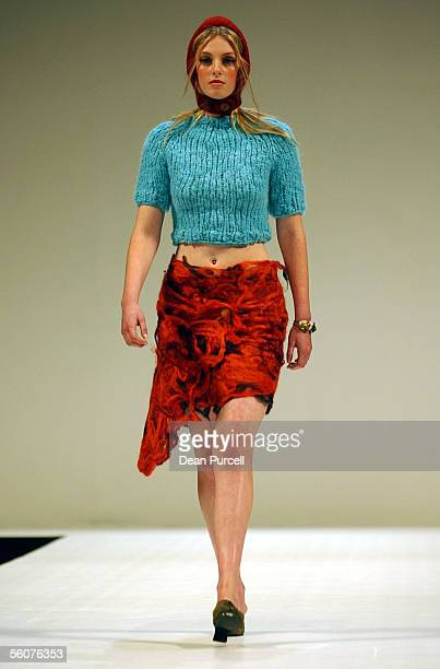 Catwalk models show the New Generation Hawkes Bay label ADAMSGIBBS, Autumn Winter 2002 collection, on the 3rd day of the first Loreal New Zealand...