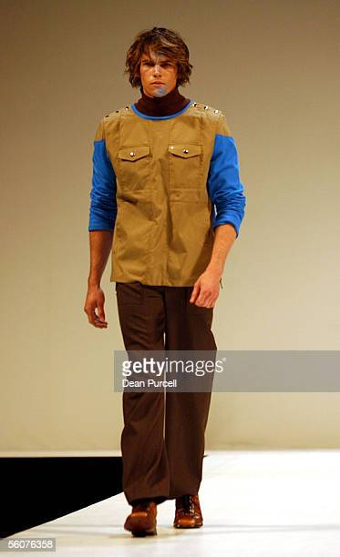 Catwalk models show the New Generation label Ehud, Autumn Winter 2002 collection, on the 3rd day of the first Loreal New Zealand Fashion Week held at...