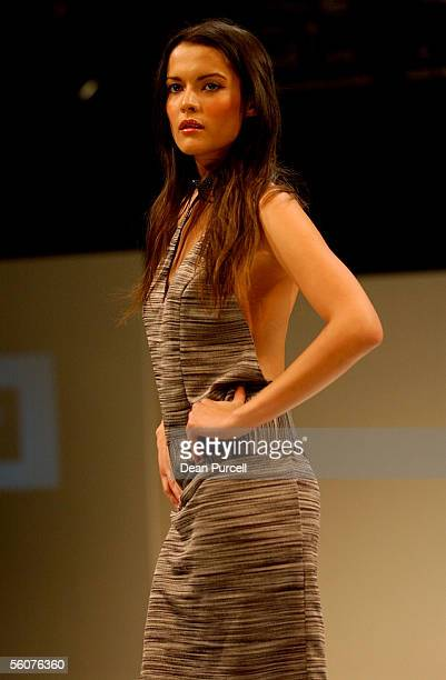 Catwalk models show the New Generation label Paulette DeHar, Autumn Winter 2002 collection, on the 3rd day of the first Loreal New Zealand Fashion...
