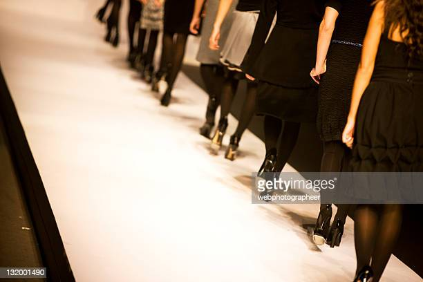 catwalk - fashion runway stock pictures, royalty-free photos & images