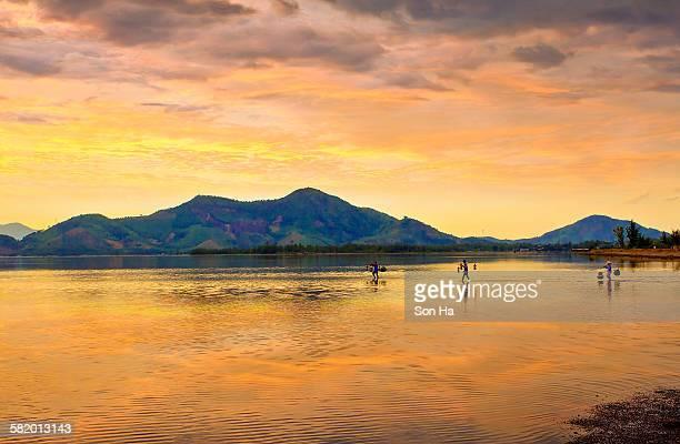 Cau Hai lagoon in the sunset