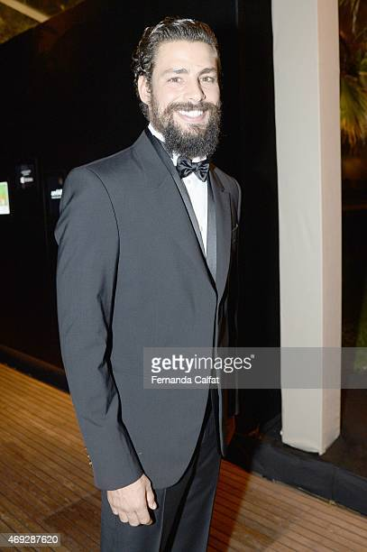 Caua Reymond attends the 5th Annual amfAR Inspiration Gala at the home of Dinho Diniz on April 10 2015 in Sao Paulo Brazil