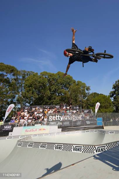 Cauan Madona of Brazil during the Vans BMX Pro Cup Series SemiFinal at Five Dock Skate Park on April 13 2019 in Sydney Australia