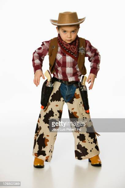 caucasian boy in cowboy costume - cowboy stock pictures, royalty-free photos & images