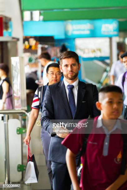 caucasian businessman with beard and suit - expatriate stock pictures, royalty-free photos & images