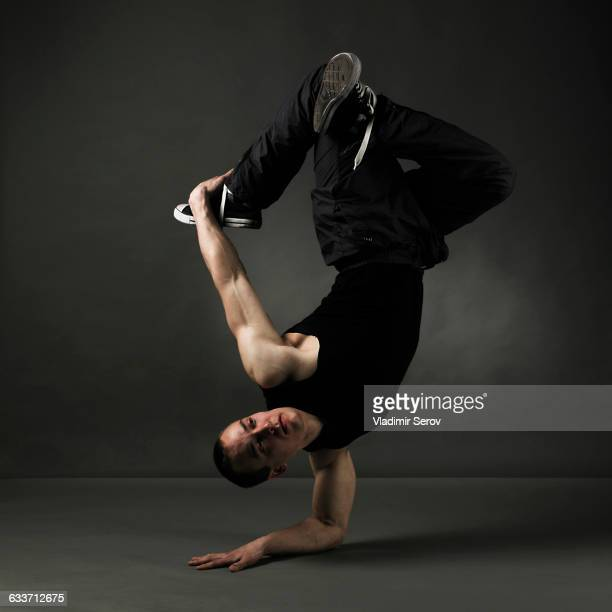 Caucasian dancer posing