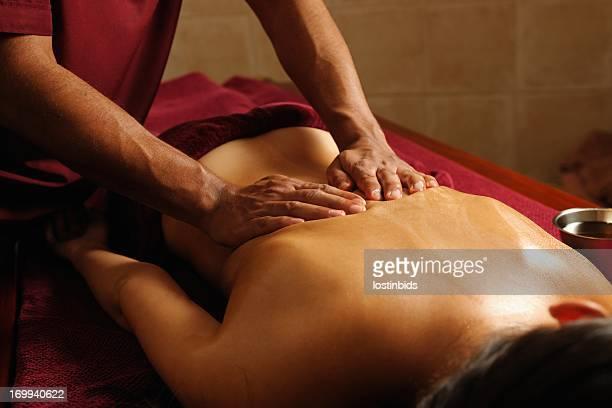Caucasian Enjoying An Ayuverdic Massage