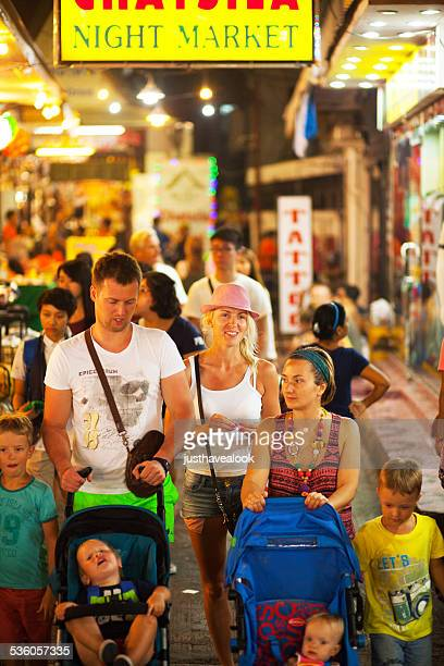 Caucasian families with children in Hua Hin