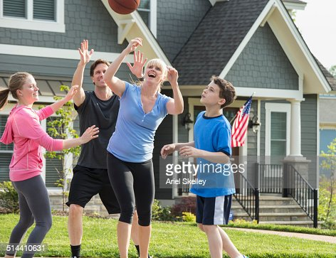 Family Playing Sports Together