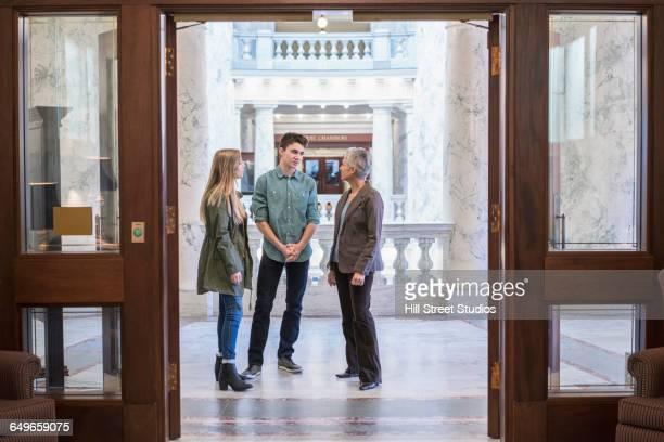 caucasian family taking tour of capitol - family politics stock pictures, royalty-free photos & images