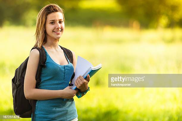 caucasian female college student outdoors - 18 23 months stock pictures, royalty-free photos & images