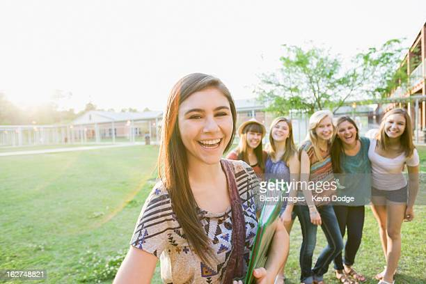 caucasian friends standing together - tallahassee stock pictures, royalty-free photos & images