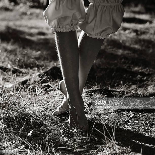 Caucasian girl walking outdoors