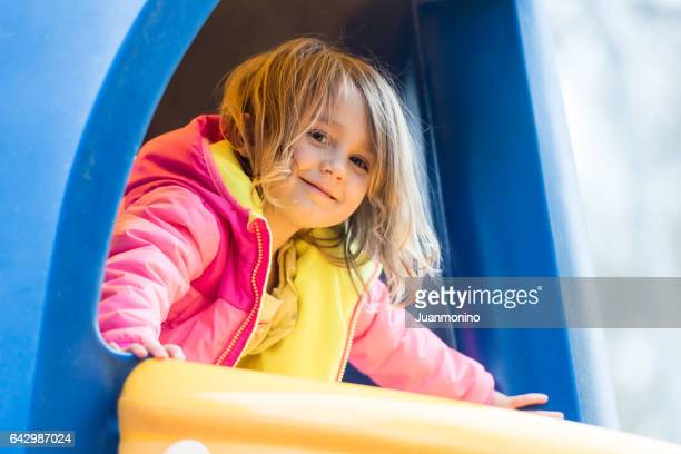 Caucasian Little girl at the park