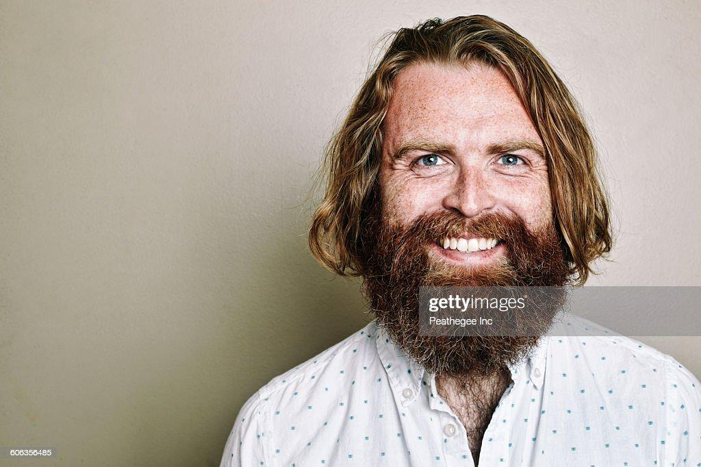 Caucasian man smiling : Stock Photo