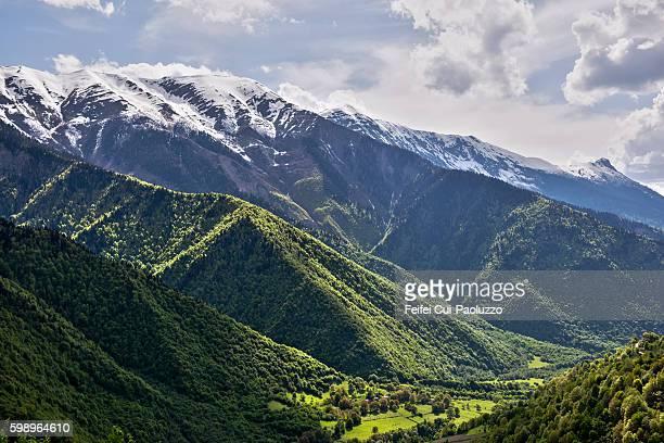 Caucasian mountain valley of Georgia