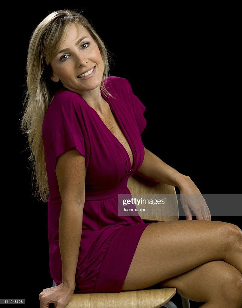 Caucasian woman at her forties no make up : Stock Photo