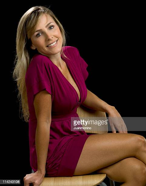 caucasian woman at her forties no make up - older woman legs stock photos and pictures
