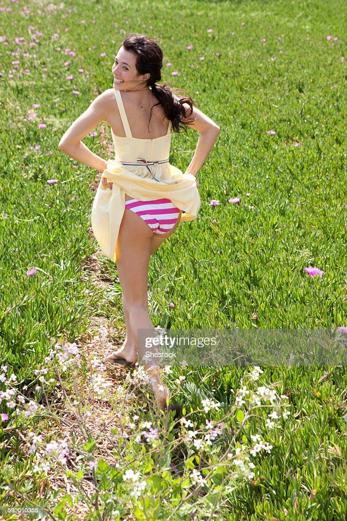 Woman in her panties