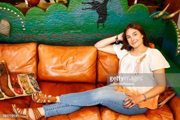 Caucasian woman relaxing on sofa