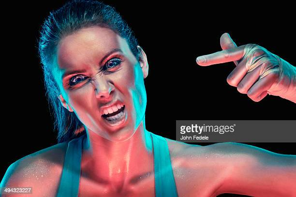 caucasian woman shouting - fury stock pictures, royalty-free photos & images