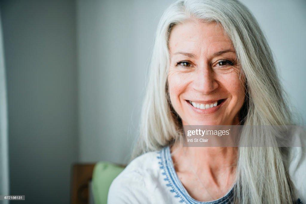 Caucasian woman smiling : Stock Photo