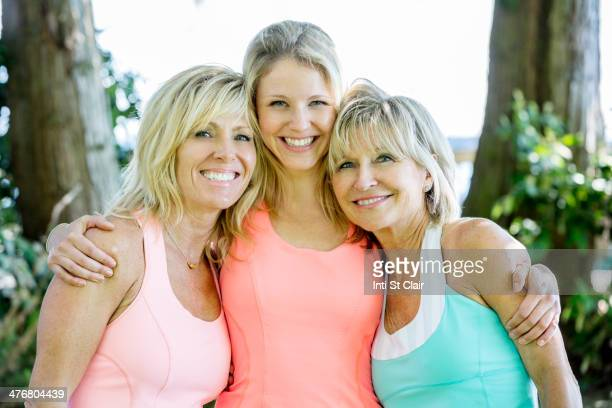 caucasian women smiling outdoors - niece stock pictures, royalty-free photos & images