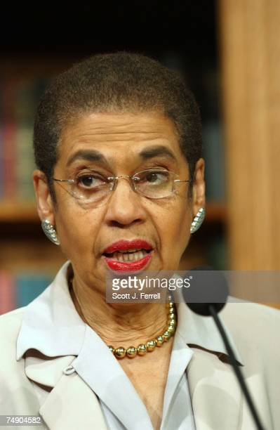 CAUCUSDel Eleanor Holmes Norton DDC during a news conference on yesterday's election