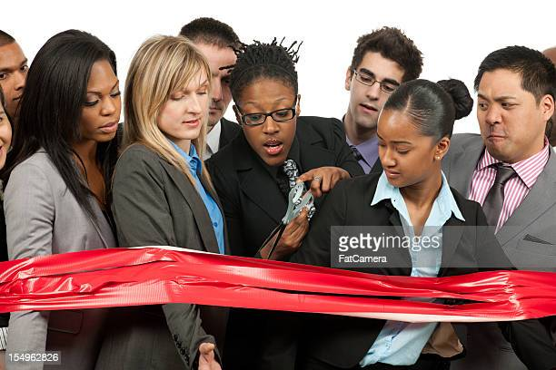caught behind the red tape - bureaucracy stock pictures, royalty-free photos & images
