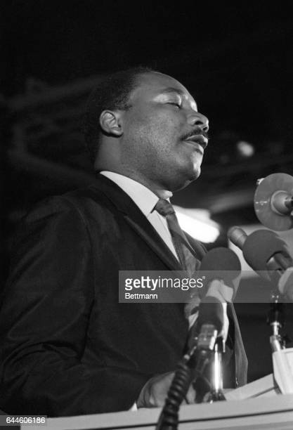 Caught in a somber mood Dr Martin Luther King addresses some 2000 people April 3rd night on the eve of his death The former founder and chairman of...