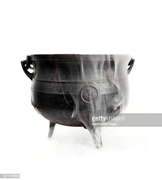 cauldron - dry ice stock pictures, royalty-free photos & images