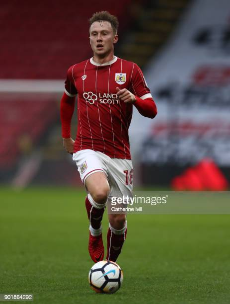 Cauley Woodrow of Bristol City during the Emirates FA Cup Third Round match between Watford and Bristol City at Vicarage Road on January 6 2018 in...