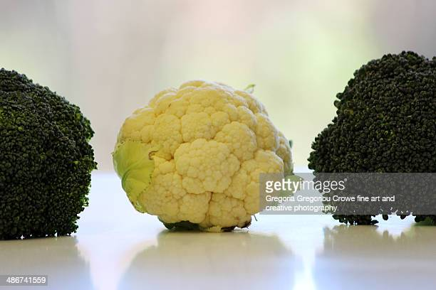 cauliflower and broccoli - gregoria gregoriou crowe fine art and creative photography fotografías e imágenes de stock