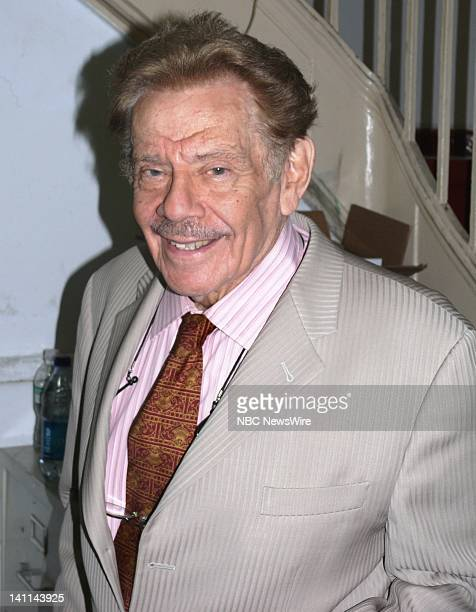 NBC NEWS Cause Celeb Jerry Stiller Pictured Actor Jerry Stiller expresses lifetime love for Yiddish theater on June 17 2008 Photo by Giacinta...