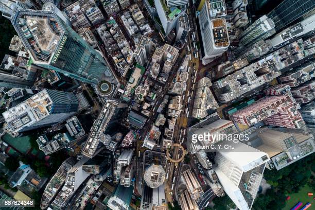 causeway bay, hong kong - aerial view stock pictures, royalty-free photos & images