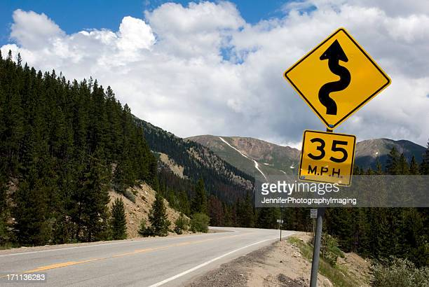 caution! - speed limit sign stock photos and pictures